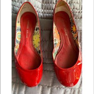 Women's Red Patten Flats